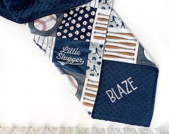 Baseball Football Sports Baby Name Blanket Newborn Baby Blanket Personal Baby Blanket Custom Baby Blanket Baby Shower Gift