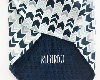 Personalized Baby Blanket - Minky Baby Blanket - Baby Blanket with Name - Baby Shower Gift - Receiving Blanket - Monogrammed Baby Blanket