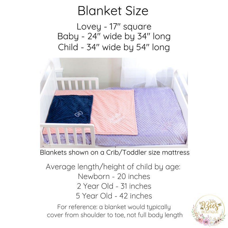 New Baby Gift Purple Watercolor Florals Baby Shower Gift for Girl Personalized Floral Baby Blanket Minky Baby Blanket with Name