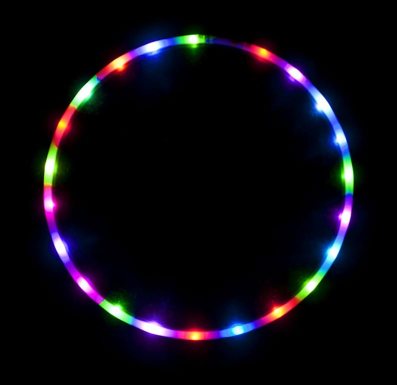 Fitness Equipment & Gear Led Hula Hoop 14 Color Changing Lights Multiple Sizes Available Technicolor Pris Fitness, Running & Yoga