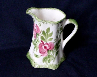 Clinchfield ArtWare Pottery Stippling Pitcher Pink Green Ship Free US48 Contig Cash Family Pottery Vintage Pottery Art /& Crafts Ewer