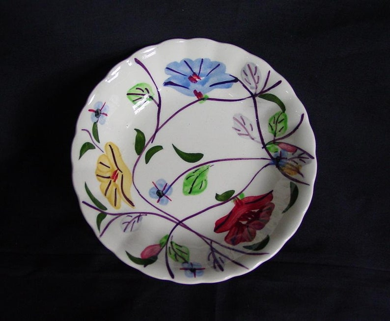 5 1/4 Blue Ridge Pottery Bowl CHINTZ 5.25 Fruit image 0