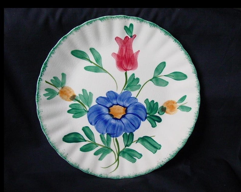 Blue Ridge MEDLEY Lunch Plate 9 Hand Painted Colonial image 0