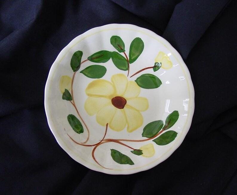 5 1/4 Blue Ridge Yellow Nocturne Bowl 5.25 Dessert image 0