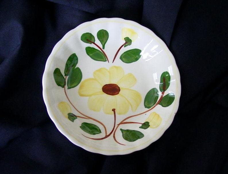 Blue Ridge Yellow Nocturne Bowl 5.25 Dessert Tapas Dish image 0
