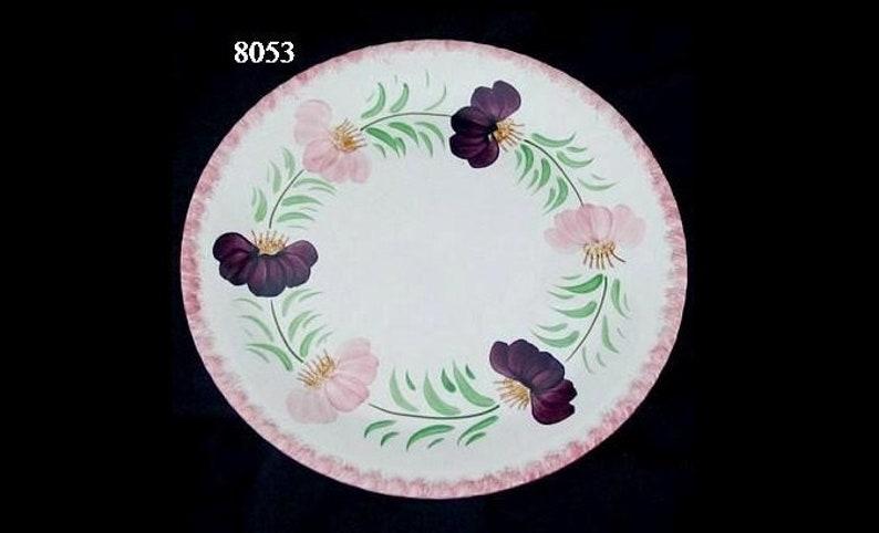 9 1/4 Blue Ridge FLOWER WREATH 9.25 Lunch Plate image 0