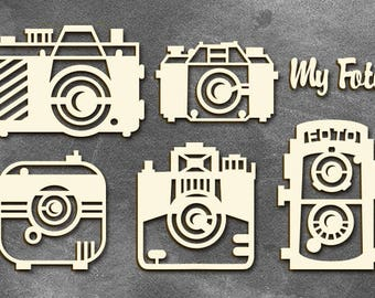 Photo Camera Chipboards for mixmedia scrapbooking