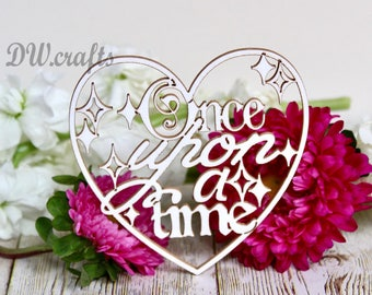 Once Upon a Time Chipboard for mixmedia scrapbooking