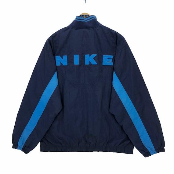 Vintage 90's Nike Swoosh Raincoat Windbreaker Jack