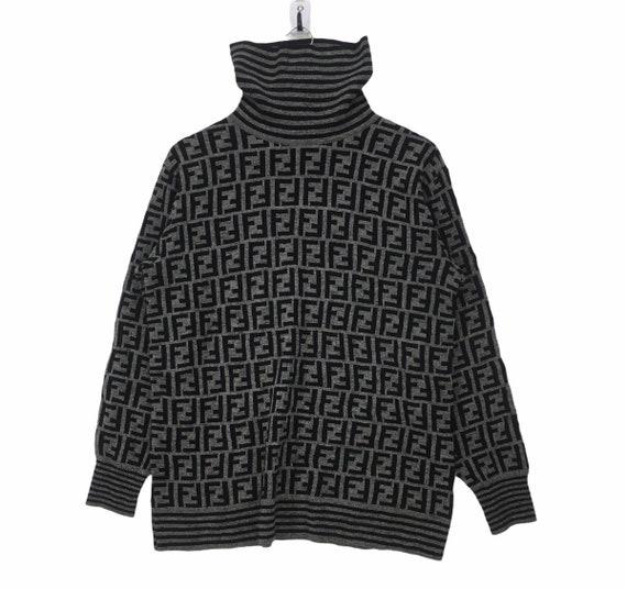 Fendi Zucca Monogram FF Turtleneck Sweater
