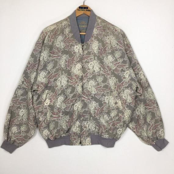 Vintage Favored Pure Silk Bomber Jacket