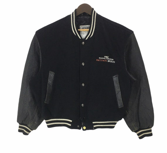 Vintage Paccino Leather Varsity Jacket