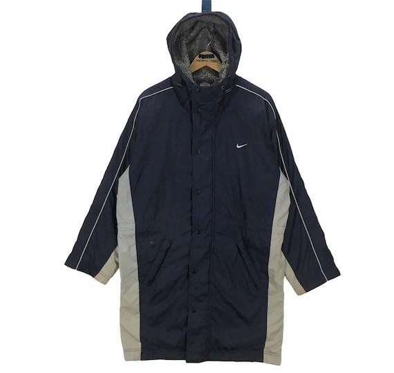 Vintage Nike Long Winter Jacket Big Swoosh