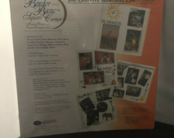Creative Memories 12x12 Refill Border Basic Square Corner Refill Pages Sealed