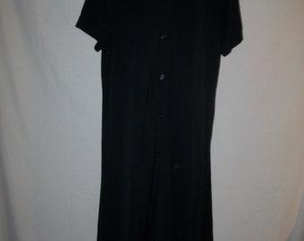 8b790d99e8b Rare Vintage Faconnable Long Button Front Short Sleeve Polo Dress Sz XL