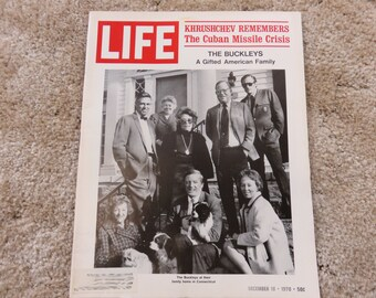 LIFE Magazine December 18, 1970 The gifted Buckley family; Khrushchev Remembers, Cuban Missile Crisis