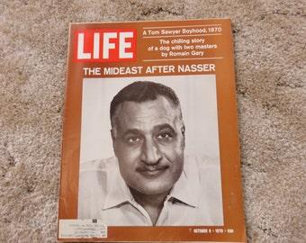 LIFE Magazine October 9, 1970 featuring, leader of Egypt, A Tom Sawyer's Boyhood