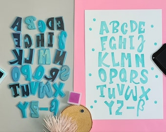 Poster - individual stamp printing letters
