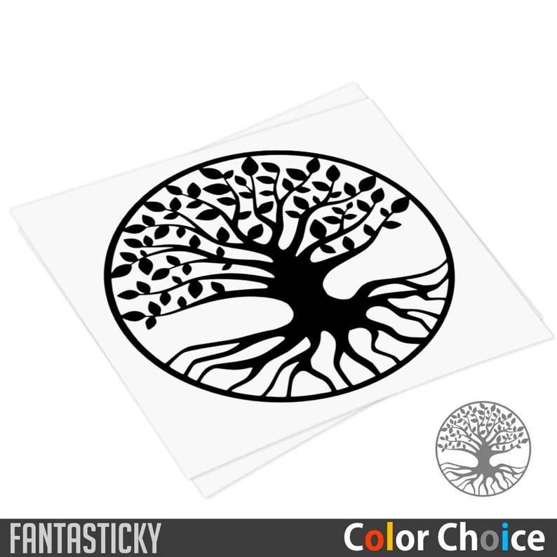 tree of life decal yggdrasil world tree sticker sacred tree | etsy