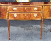 Councill Craftsmen Banded Inlaid Mahogany Federal Style Dining Room Sideboard c1990s
