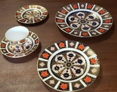 5 Piece Dinner Place Setting Royal Crown Derby Old Imari Pattern 1128 c.1980s