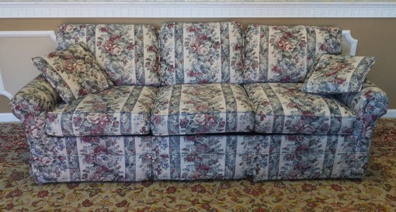 Extremely Clean Castro Convertible Floral Upholstered Queen Etsy