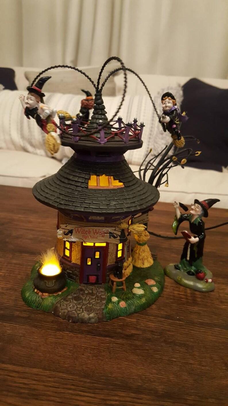 7a4de4db81b Dept 56 Halloween village witch way flight school