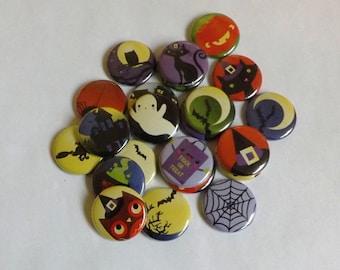 """Halloween 1.25"""" Buttons (set of 12)"""