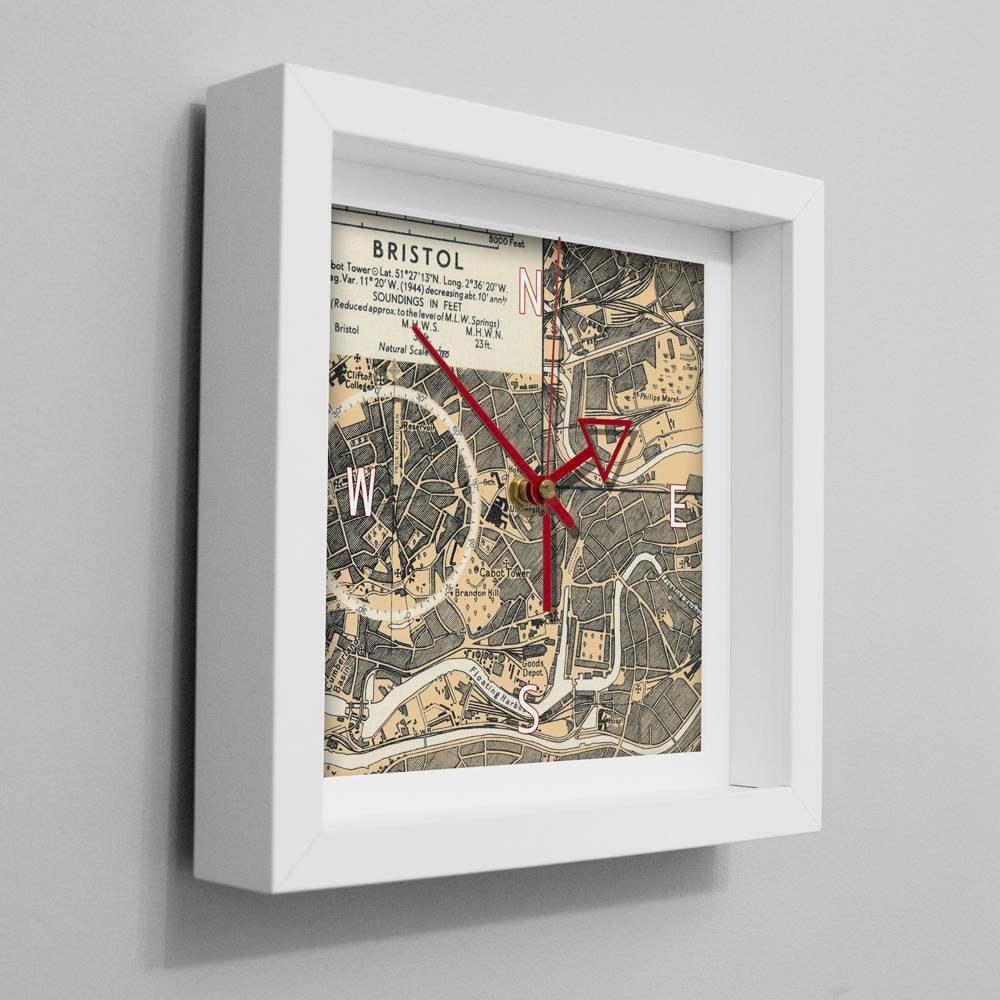 Bristol Nautical Wall Clock Unique Seaside Gift For Him Or