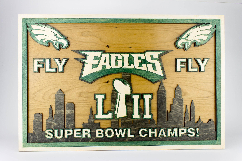 Philadelphia Eagles Championship Plaque Fly Eagles Fly LII