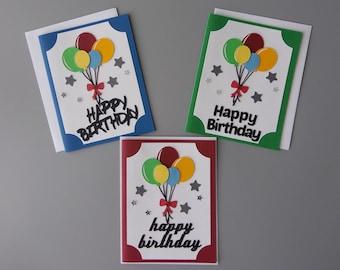 Birthday Card With Balloons Friend Birthday Card Happy Etsy