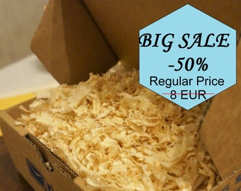BIG Sale -50%!!! Wood shavings one box quantity. Wood chips. Wood shavings for decoration, DIY craft, floristry, filling material