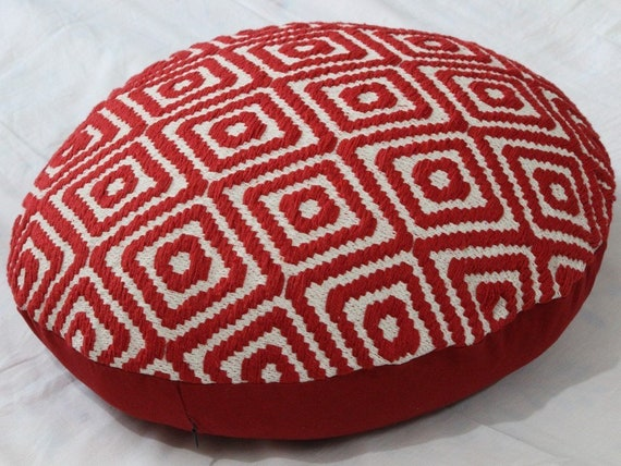 Floor Cushion,Red Round Pillow,Floor Pillow Large,Floor Cushions Seating,18 Inch Round Throw Pillow Cover,Kids Pillows,Jacquard Pillow by Etsy