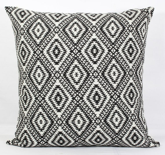 Maroon Pillow Cover 24x24 Throw Pillows Black And White