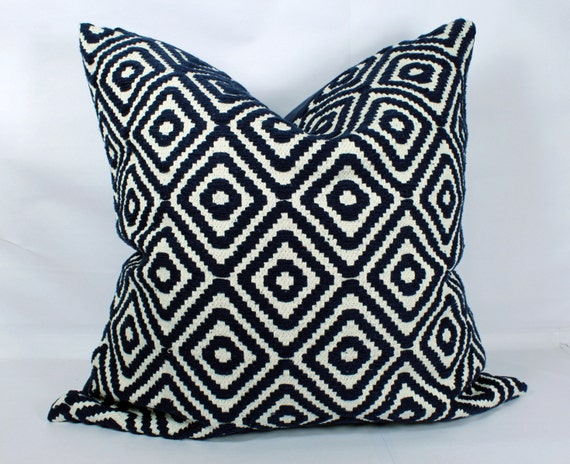 Dark Blue Throw Pillow Covers 40x40 Decorative Boho Pillow Etsy Unique Etsy Pillow Covers 20x20