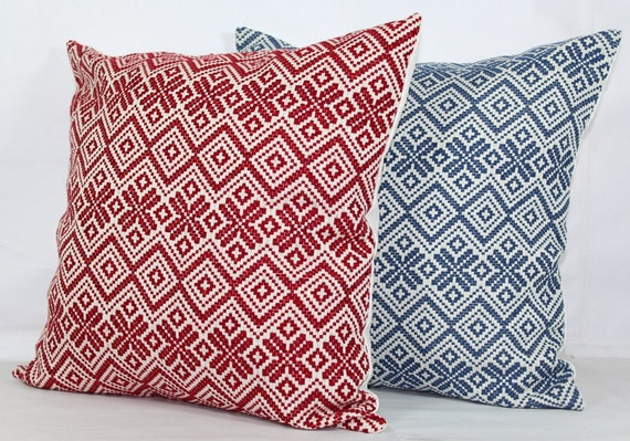 Red Throw Pillow Covers 40x40 Euro Pillow Covers 40x40 Etsy Fascinating Etsy Pillow Covers 20x20