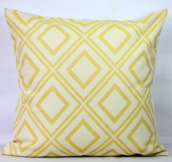 Lemon Pillow Yellow Throw Pillow Covers 40x40 Yellow Pillow Etsy Best Etsy Pillow Covers 20x20