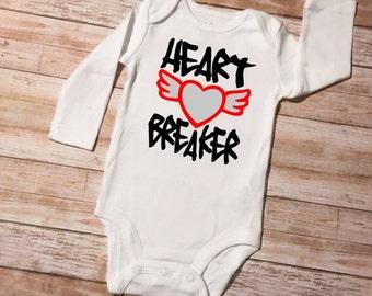 Heart Breaker  Boys Bodysuit or Tshirt