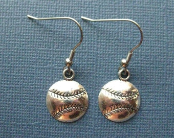 Baseball Earrings - Dangle Earrings - Sports Earrings - Baseball Jewelry - Sports Jewelry -- E113