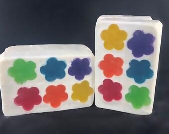 Rainbow Flower Soap
