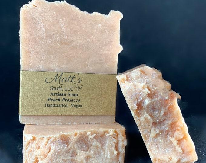 Handmade Artisan Soap Peach Prosecco