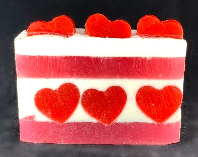Featured listing image: Sweetheart Glycerin Soap Valentine Soap