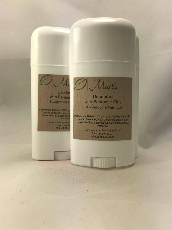 Deodorant Homemade- Bentonite Clay- NO Coconut Oil