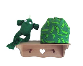 baby hat crocodile green , choose your size