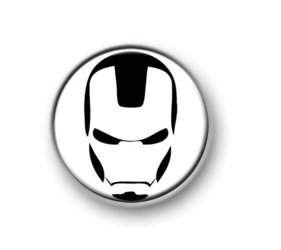 Marvel Comics Invincible Iron Man Avengers Official 25mm Button Pin Badge