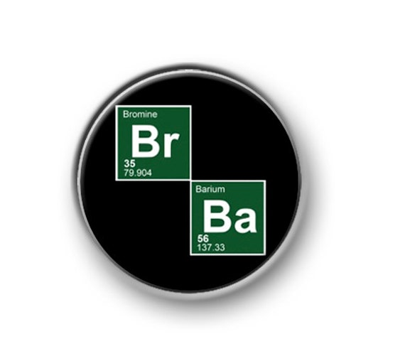 Heisenberg BUTTON PIN BADGE 25mm 1 INCH Logo Novelty Breaking Bad