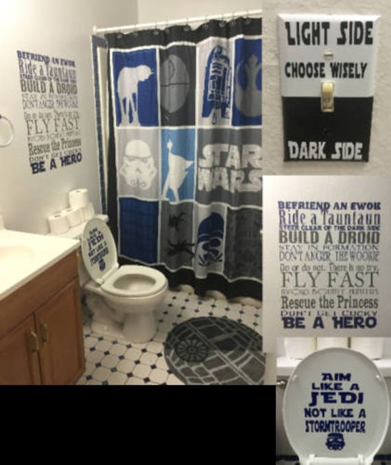 Star Wars Bathroom Toilet Decal: Aim Like a Jedi