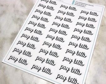 Pay Bills Script Planner Sticker (L139)