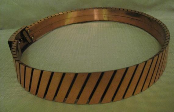 RENOIR COPPER Belt Size Small  3 Dimensional Slant