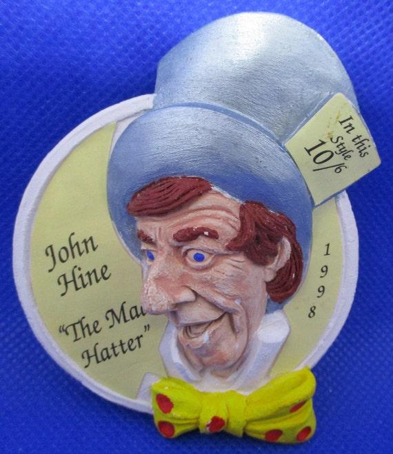 "Signed JOHN HINE ""The Mad Hatter"" Alice In WONDER… - image 2"
